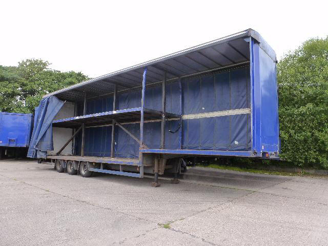 Double Deck Curtainsider Trailer For Sale